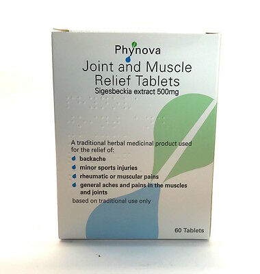 Phynova Joint and Muscle Relief Sigesbeckia Extract 500mg - 60 Tablets