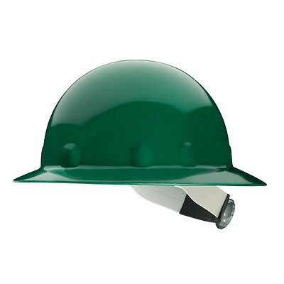 Fibre-Metal Hard Hat Full Brim with 8 Point Ratchet Suspension, Green