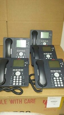 AVAYA 9650 Charcoal VOIP phone Lot of 5