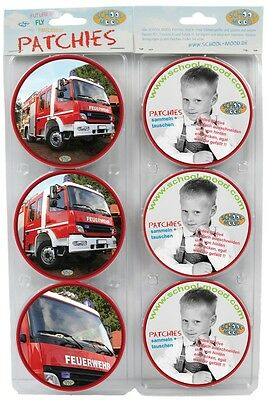 SCHOOL-MOOD Patchy Blister Feuerwehr 6002-626 Patchies Kletties