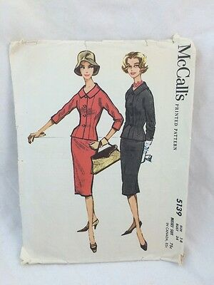 Vintage McCall's Pattern 5139 Size 14 Misses SUIT Jackie Kennedy Look