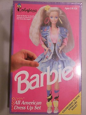 Colorforms Barbie All American Dress up Set NEW SEALED #740