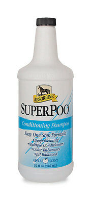 Absorbine SUPER POO Deep Cleaning Conditioning Horse Shampoo Apple Scented 946ml