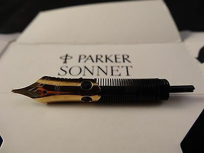 New Parker Sonnet Medium Gold Plated Replacement Fountain Pen Nib