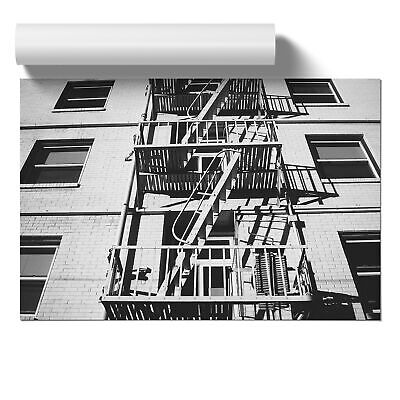 Poster Print Wall Art Architecture Building Stairway Landscape Buildings Décor