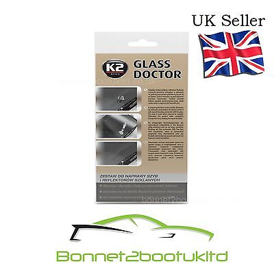 K2 GLASS DOCTOR windscreen and headlamp repair kit for crack and chips
