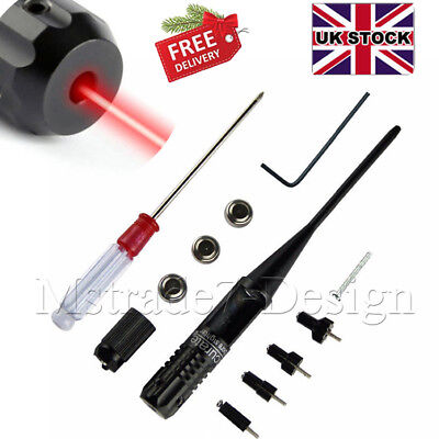 Red Laser Bore Sighter 0.22-0.50 Caliber Rifle Battery Collimator Boresighter