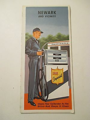 Vintage ATLANTIC NEWARK Vicinit NEW JERSEY Oil Gas Service Station CITY Road Map