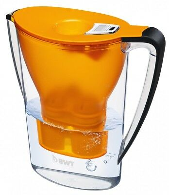 BWT 8703 Tischwasserfilter, 2,7L Longlife MG 2+, Easy Control, orange, Penguin
