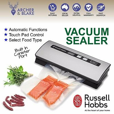 Vacuum Sealer Machine Food Saver Heat Seal Cryovac Russell Hobbs NEW