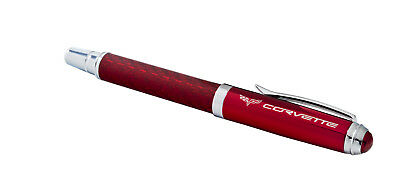 2005-2013 Corvette C6 Crossed Flags Red Carbon Fiber Style Executive Ink Pen