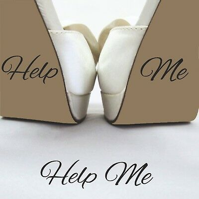Help Me Wedding Day Funny Grooms Shoe Decal Sticker Removable Vinyl Bride Gift