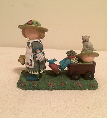 Lang & Wise Sue Dreamer Friends My Red Wagon Figurine First Edition 1998