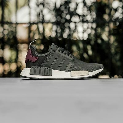 0a997b0e9cc Adidas NMD R1 Runner Nomad Utility Grey Olive Maroon New Women Size 5-11 (