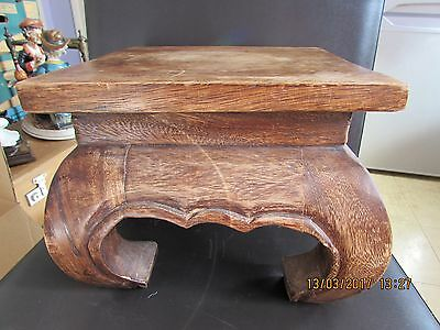 Eastern hardwood stool or vase plinth