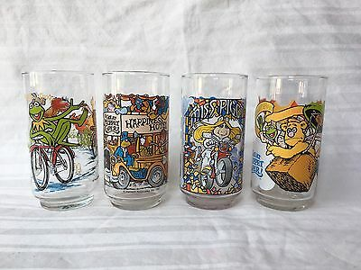 Vintage Complete Set of 4 The Great Muppet Caper Glasses 1981 McDonald's Mint