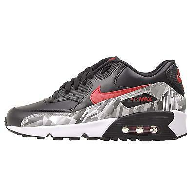 Nike Air Max 90 Print LTR (GS) Kids Youth Running Shoes Black 844602-001