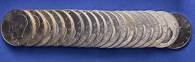 1971-S Ike Dollar Roll of 20 Coins. Choice Uncirculated. 40% Silver Dollars.