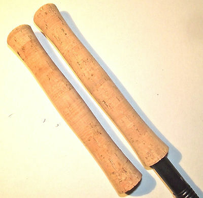 2 CORK FLY ROD HANDLES. Recessed Scroll. Grade A. (Best price EBay) (2 HANDLES)
