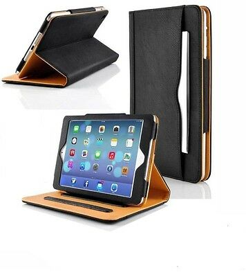 Genuine Leather Magnetic Wallet Smart Flip Case Cover For Apple iPad 5 6 Air 2