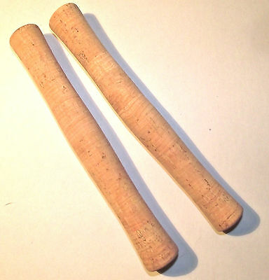 10 CORK FLY ROD HANDLES. LARGE BORE SCROLL. Grade A. (Best price EBay)
