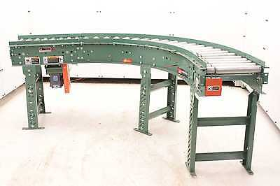 "Roach End Drive Powered Right Angle Roller Conveyor 14"" Nominal Wide x 111"" Long"