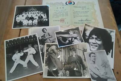 Very rare Vintage karate memorabilia collection includes Bruce Lee Pictures