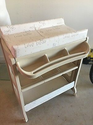 Child Care Baby Change Table with Bath and Storage