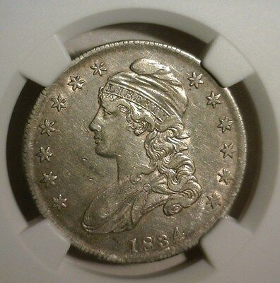 1834  Capped Bust Silver  Half Dollar  Ngc Xf 45   Nice Looking Coin!!!!