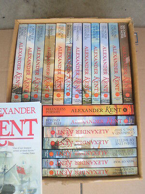 Richard Bolitho series by Alexander Kent LOT of 20 paperbacks the only victory