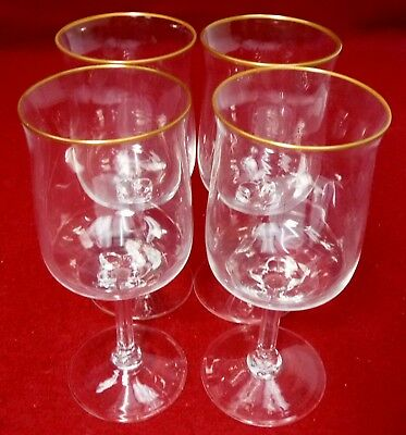 """LENOX crystal INTRIGUE pattern WATER Goblet or Glass 7-1/8"""" Set of FOUR (4)"""