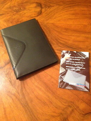 BMW M Style Wallet, vintage, mint in original box. Black leather,made in Germany