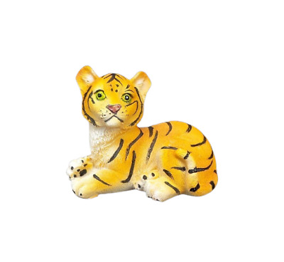 """Small Bengal Tiger Figurine Wild Cat Collectible Statue 2.5"""" Tall B"""