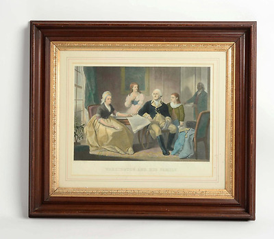 Framed Engraving of George Washington and His Family, by W. Sartain