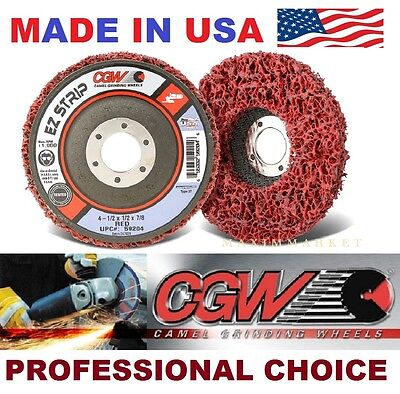 CGW 4-1/2 X 7/8 EZ Srip Finishing Grinding Disc-Wheel for Paint and Rust Removal