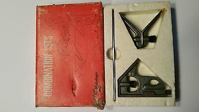 "mitutoyo 6"" combination square set made in Japan"
