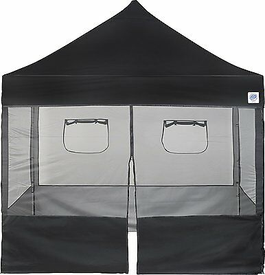 Food Booth Tent Vendor Commercial Mesh Sidewall Canopy 10x10 Pop Up Shelter New