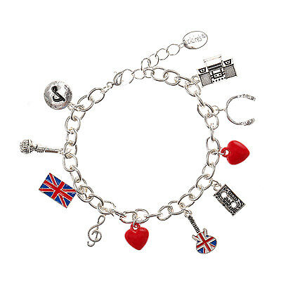 Girls and Womens London Music Charm Bracelet