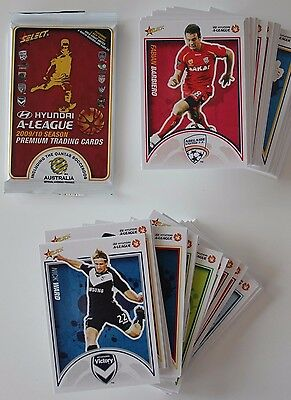 2009/10 Select FFA A-League Soccer - complete base set of 121 trading cards