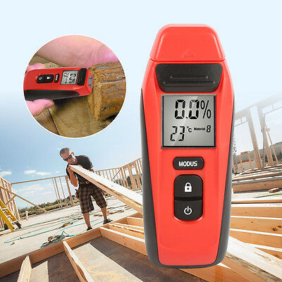 Wood Moisture Meter Humidity Tester 2-Pin LCD PRO Damp  Plaster Detector Measure