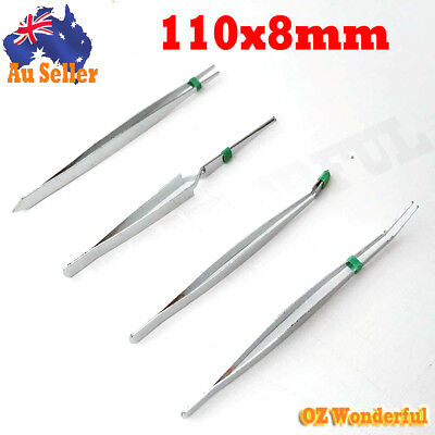 4pcs TWEEZER SET Kit Stainless Steel Tool Multipurpose Tweezers Plucker New Nail