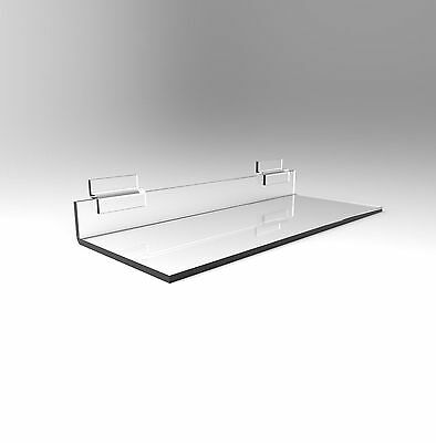 Slatwall Shoe Shelf Display - Acrylic Perspex - 255mm Width