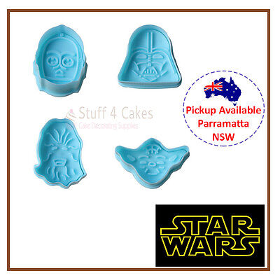 Star Wars Darth Vader Yoda Cookie Fondant Cutter Cake Decorating Supplies