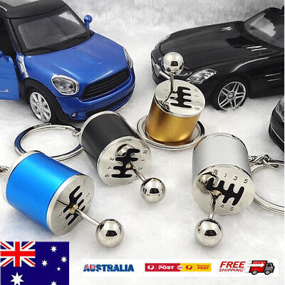 Key Chains Ring Fob Car 6 Speed Gearbox Gear Shift Racing Tuning Model Keychains