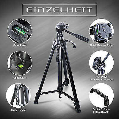Pro Tripod Stand for Camera DSLR Camcorder Tilt Pan Head CANON NIKON US LOCAL