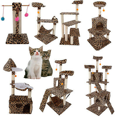 """New 20""""-72"""" Cat Tree Tower Condo Furniture Scratching Post Pet Kitty Play House"""