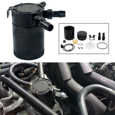 New Racing Baffled 3-Port Oil Catch Can / Tank / Air-Oil Separator