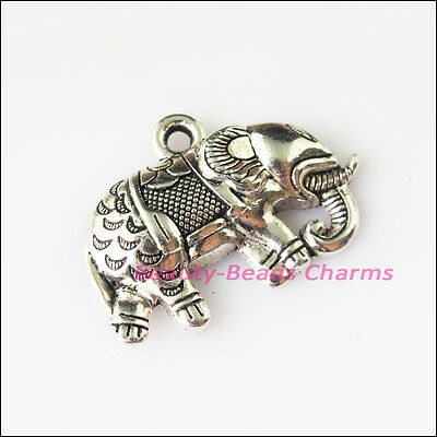 5 New Running Elephant Animal Tibetan Silver Tone Charms Pendants 20x28mm