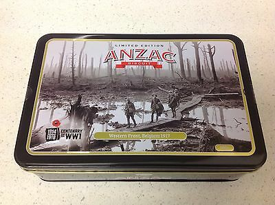2017 Limited Edition Anzac  Biscuit Tin,1914-1918 Centenary of WW1 Western Front