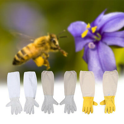 Beekeeping Bee Long Gloves Soft Goats Leather with Cotton Gauntlets All Sizes